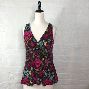 ANTHROPOLOGIE Sleeveless Floral Top